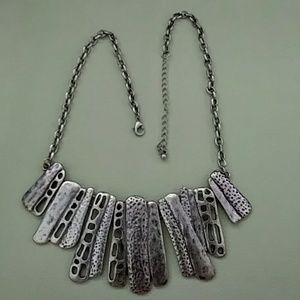 Jewelry - Abstract Pewter Art Necklace
